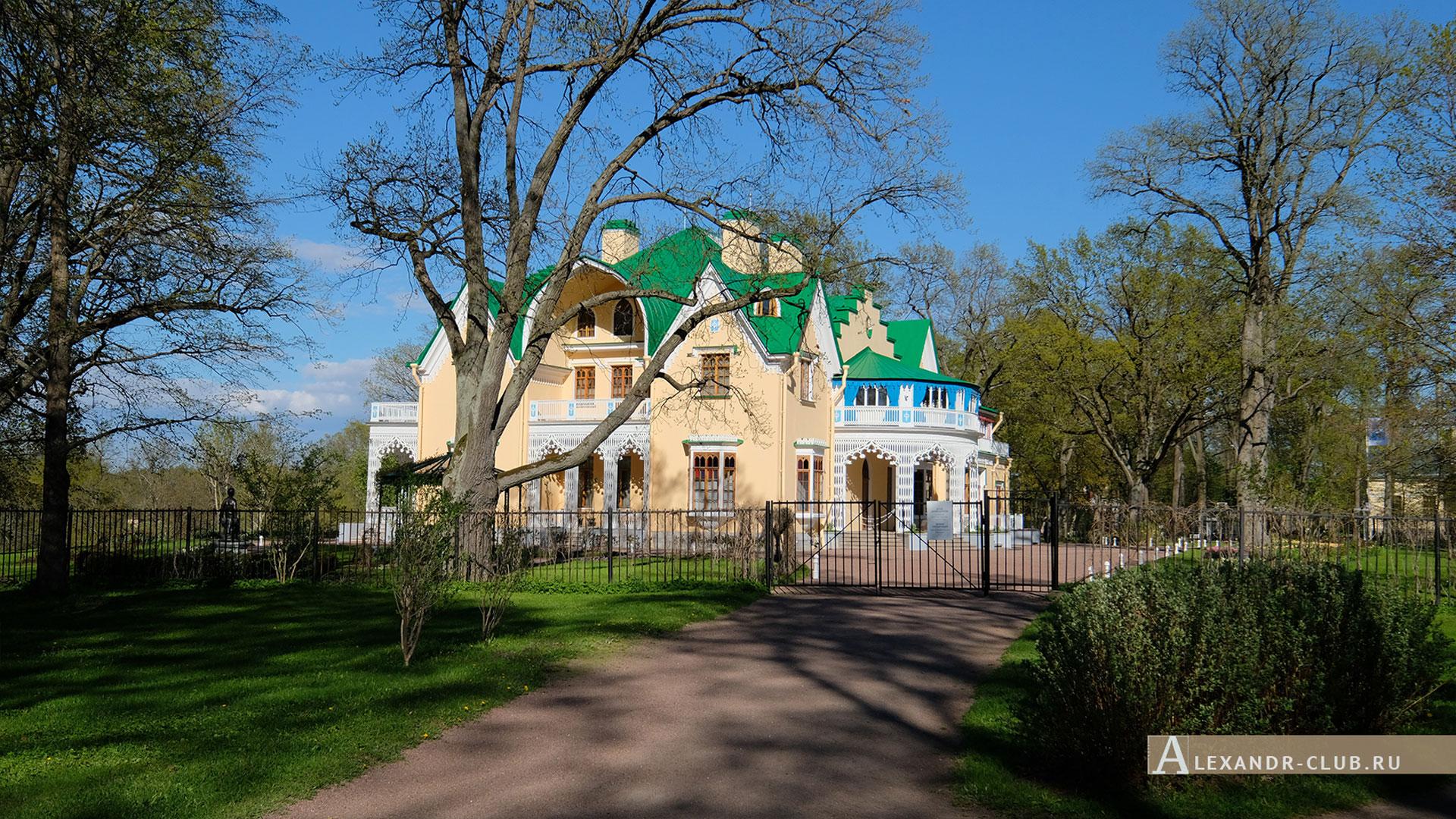 Петергоф, парк «Александрия», весна, дворец Коттедж