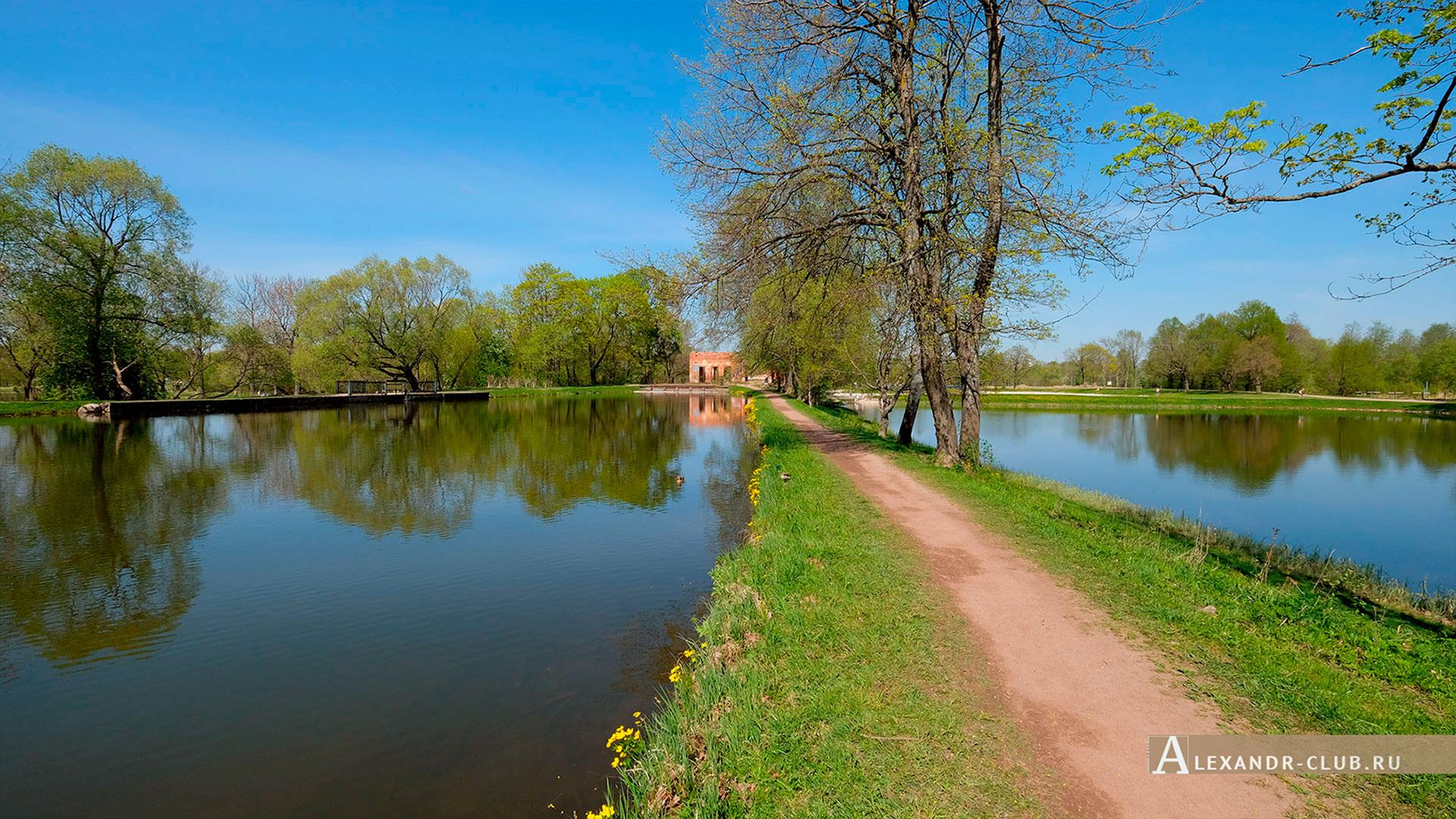 Петергоф, Луговой парк, весна, Старопетергофский канал и Розовый павильон – 1