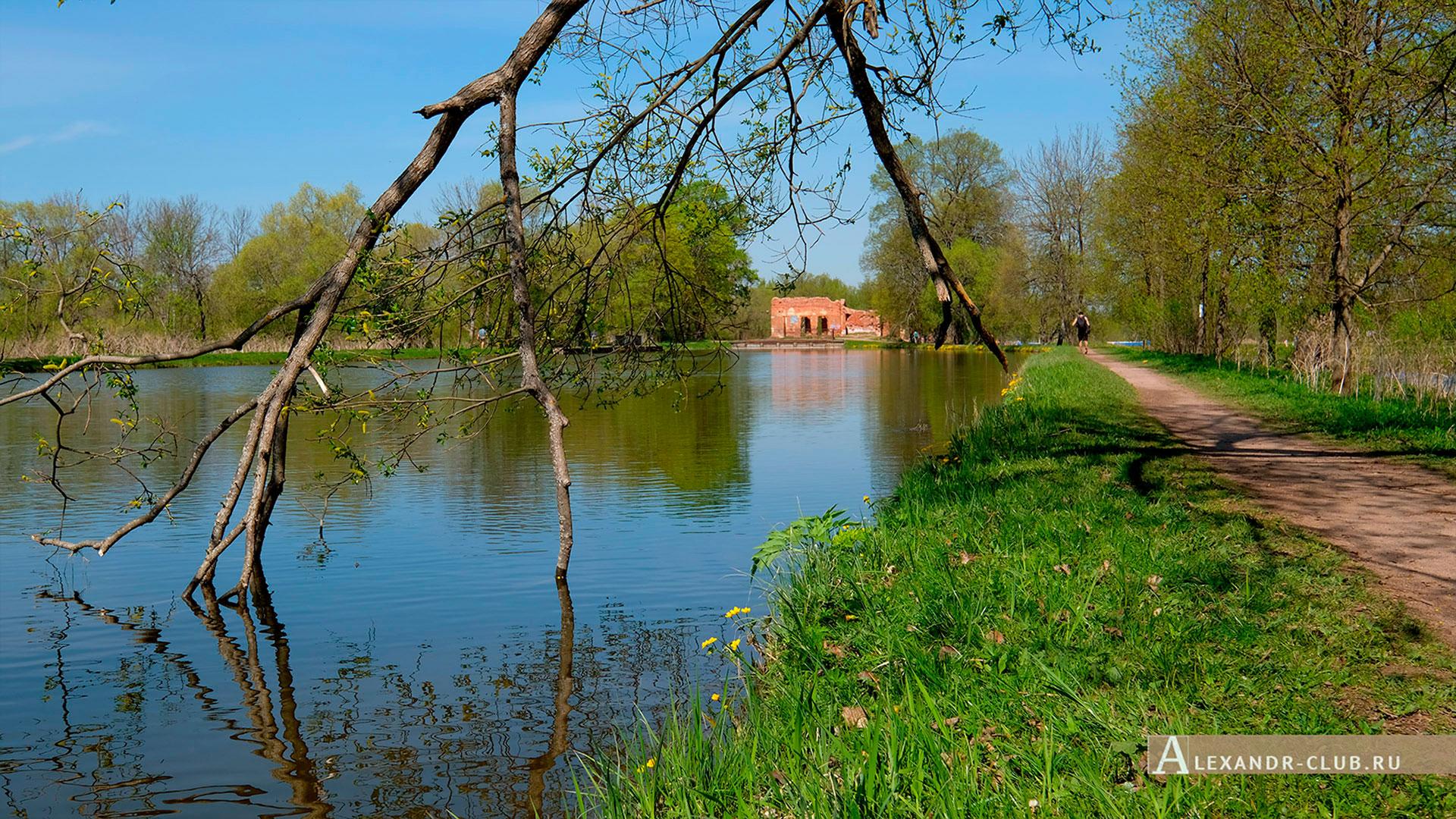 Петергоф, Луговой парк, весна, Старопетергофский канал и Розовый павильон – 2