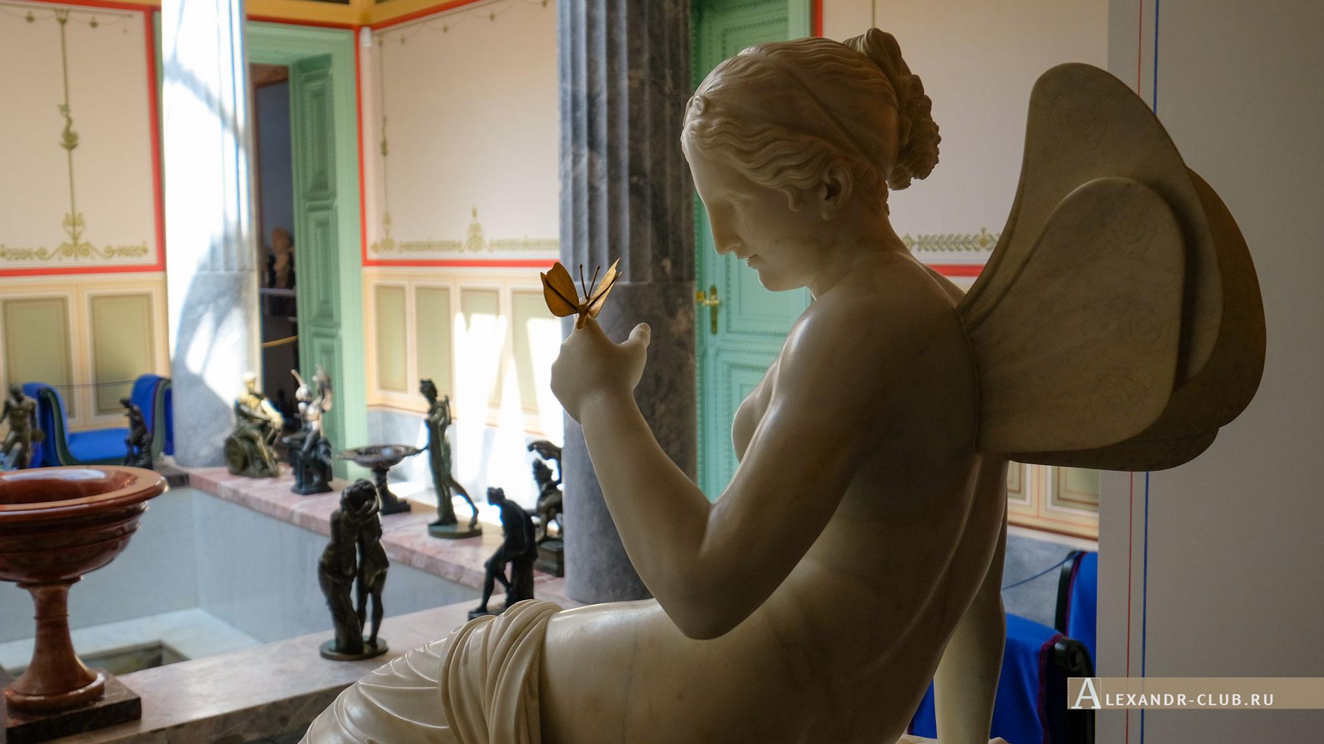 Петергоф, Колонистский парк, лето, Царицын павильон, атриум, скульптура «Психея»