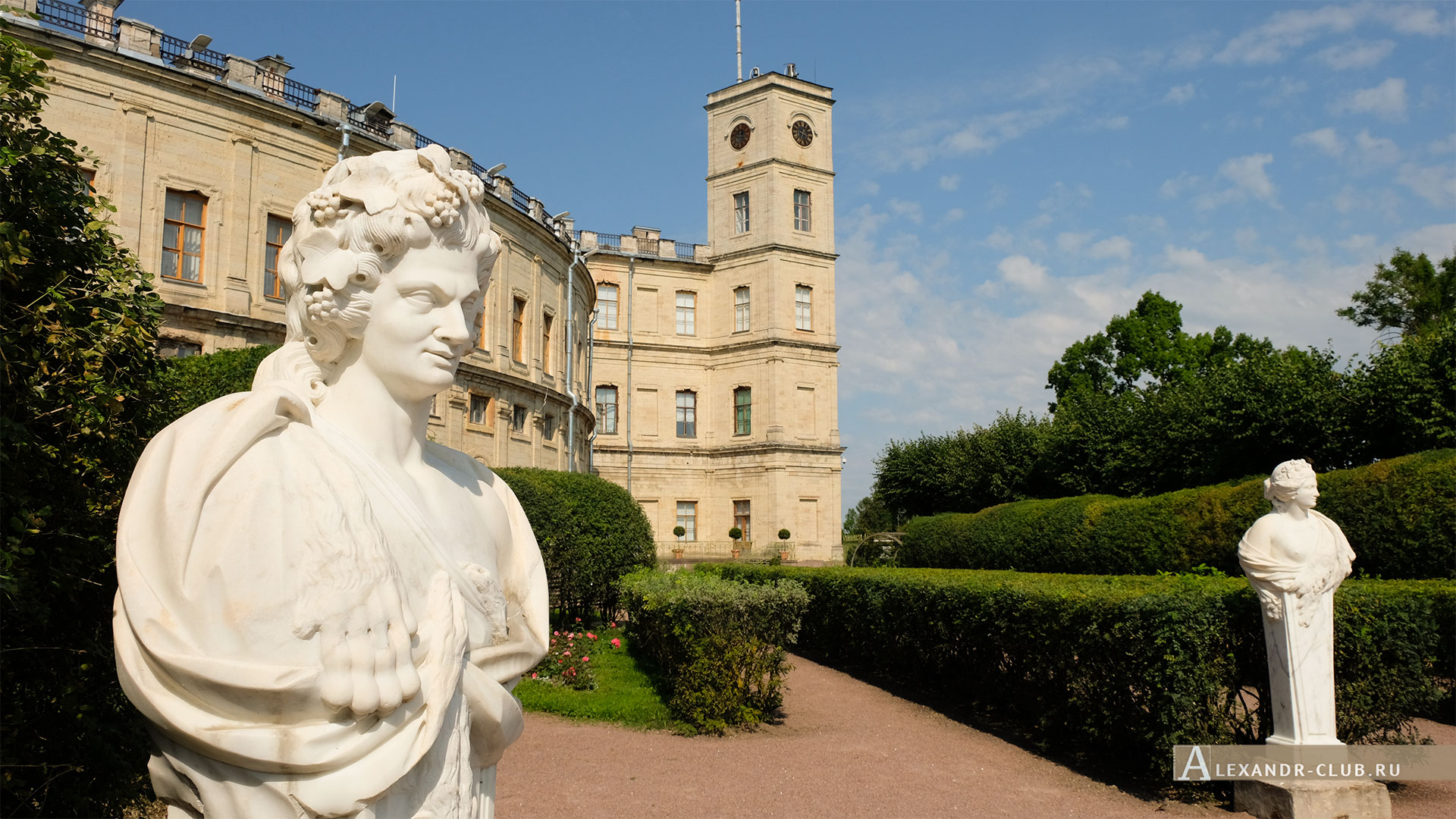 Гатчинский парк, лето, Гатчинский дворец, Собственный садик