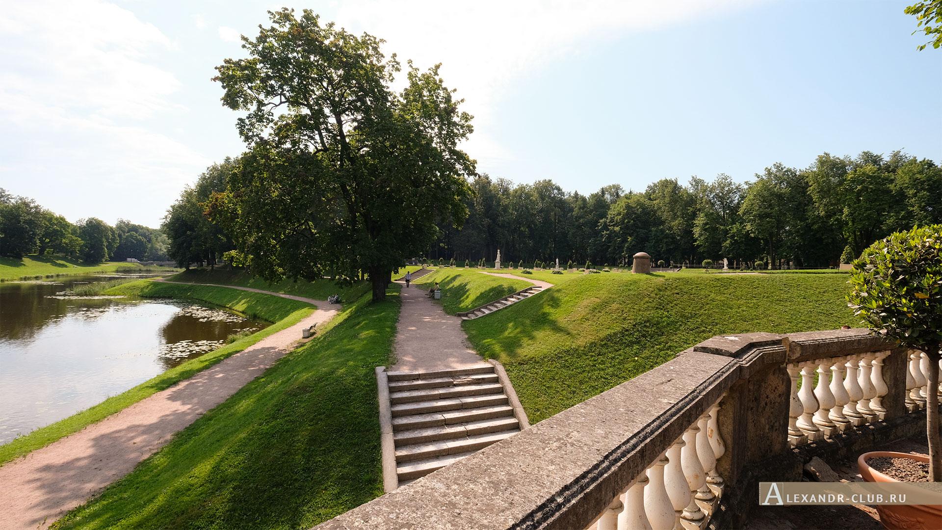Гатчинский парк, лето, Голландский сад, Карпин пруд