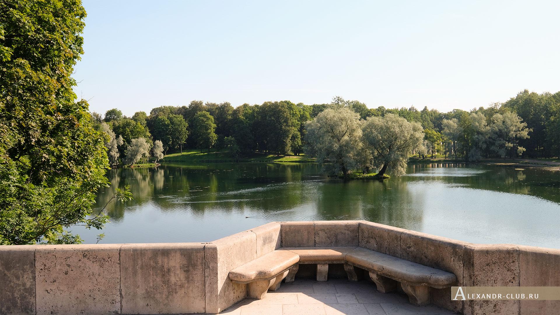 Гатчинский парк, лето, Карпин мост, Белое озеро