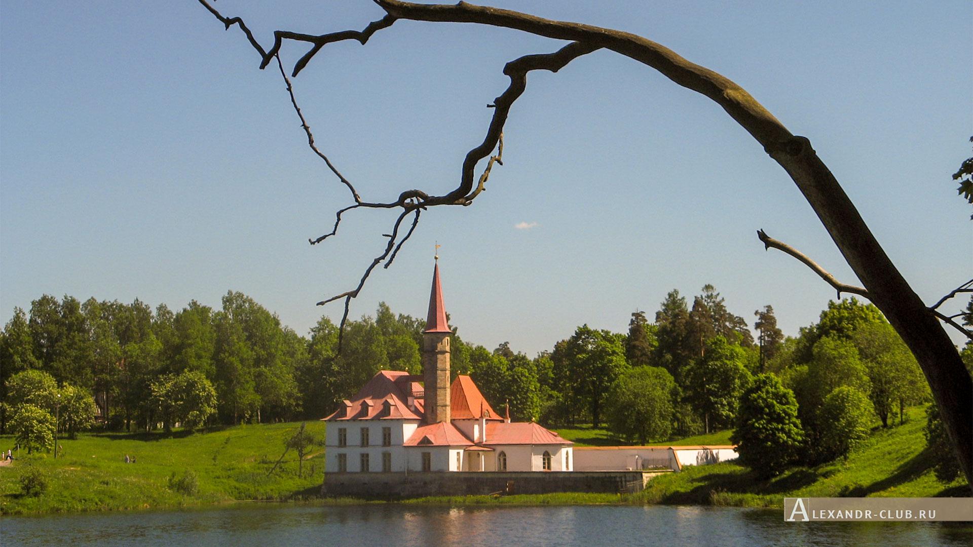 Гатчина, лето, Приоратский парк, Приоратский дворец