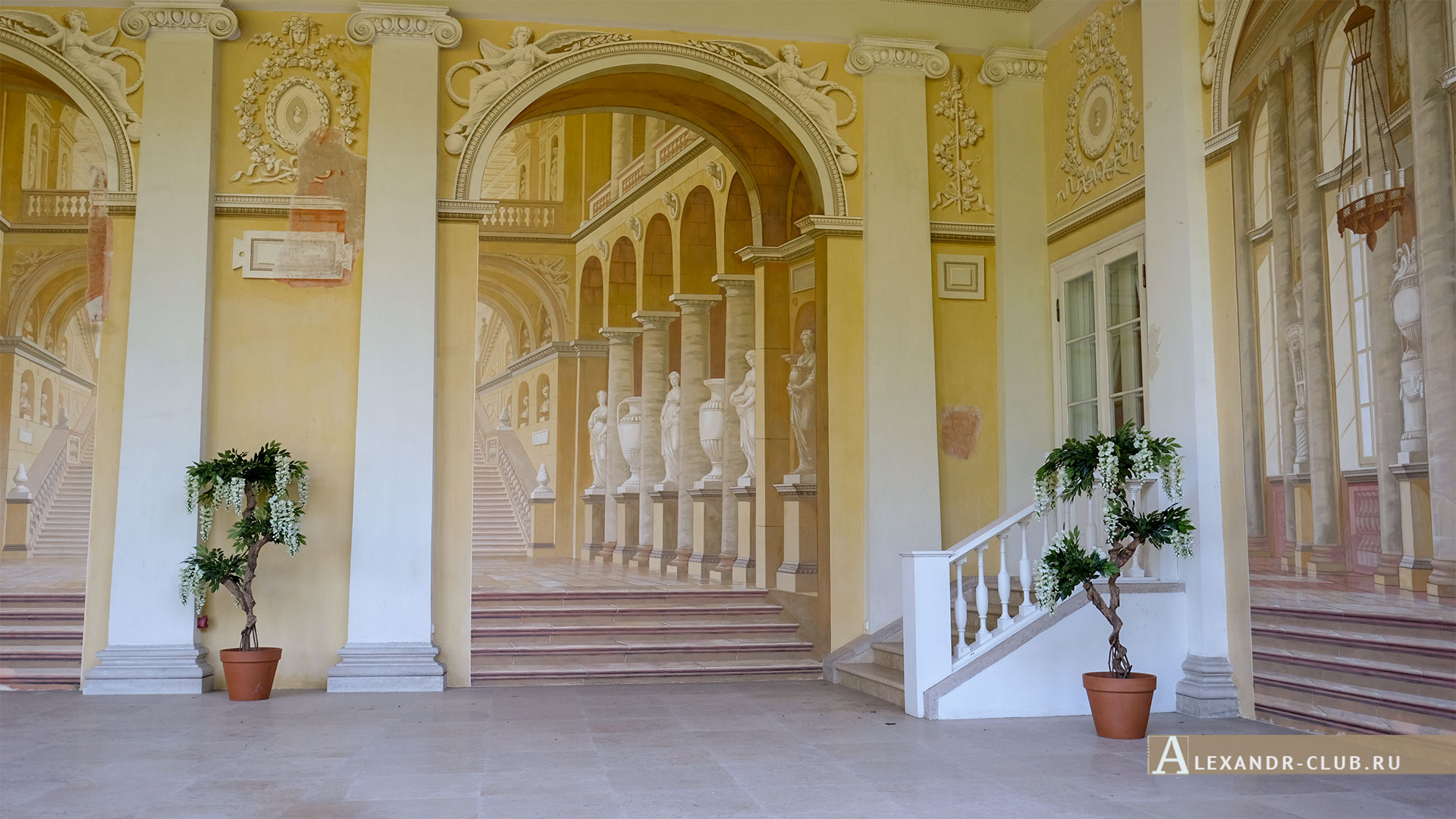 Павловск, лето, Большой Павловский дворец, Галерея Гонзаго