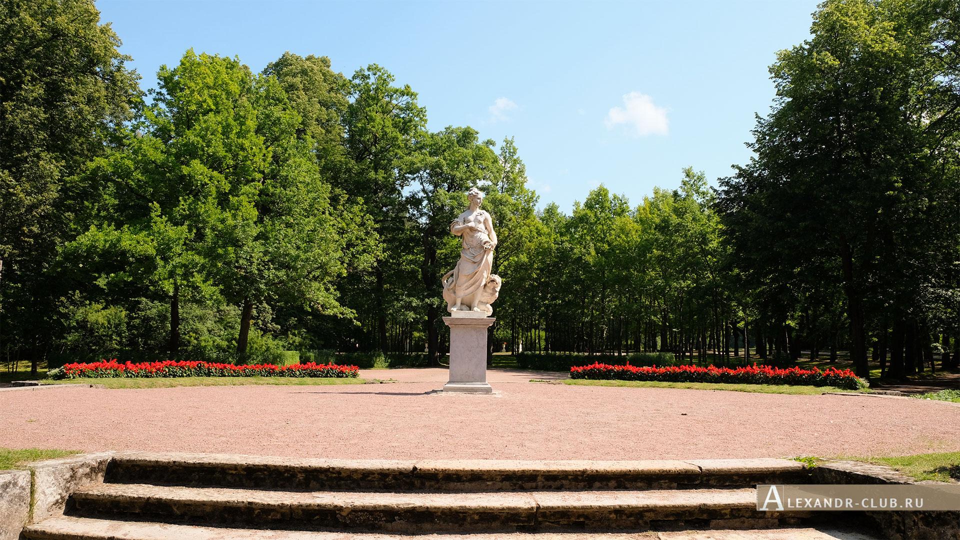 Павловск, лето, Павловский парк, Большие круги, скульптура «Мир»