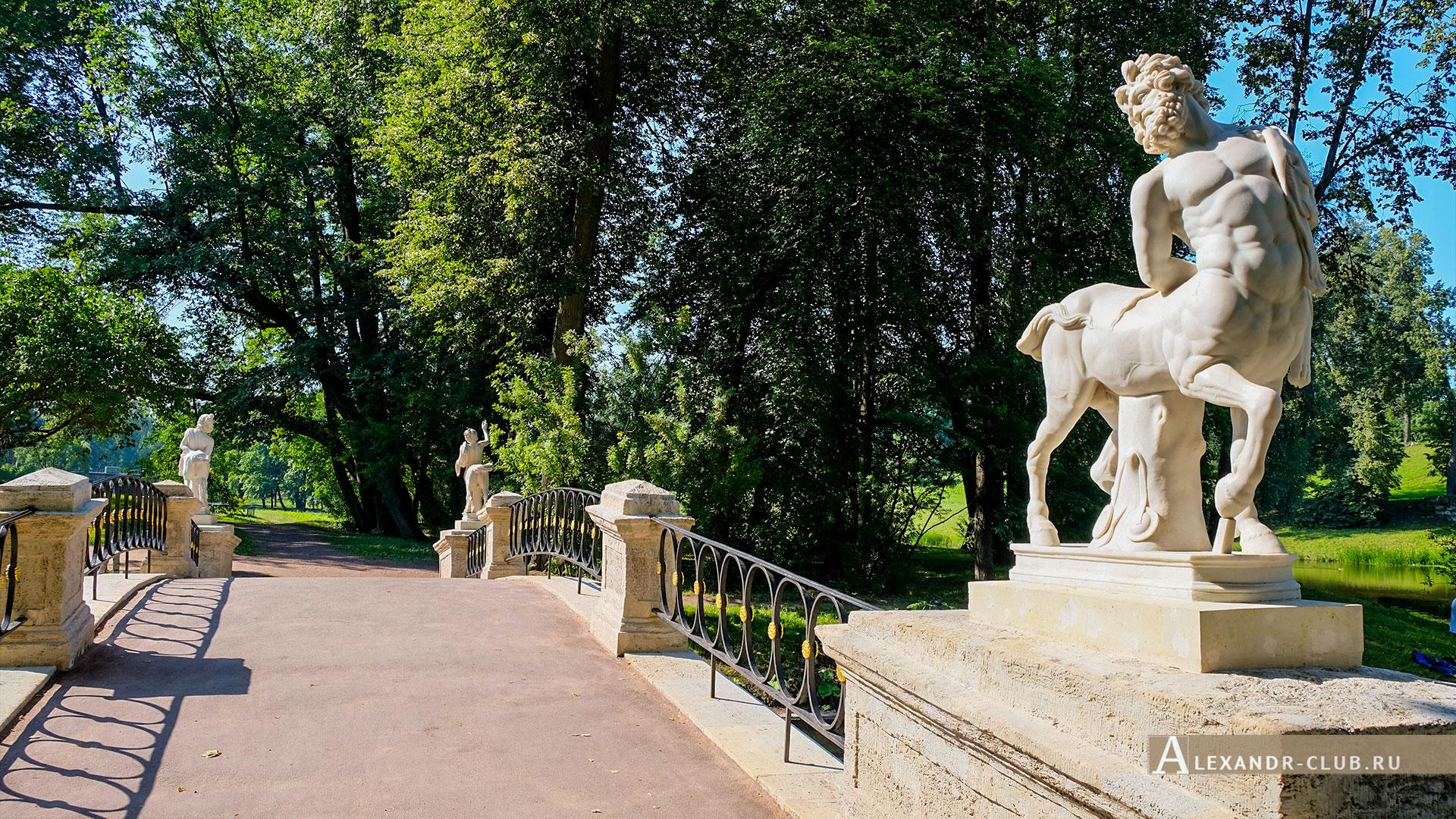 Павловск, лето, Павловский парк, мост Кентавров