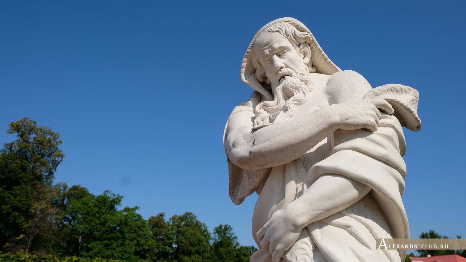 Ораниенбаум, лето, Нижний сад, скульптура