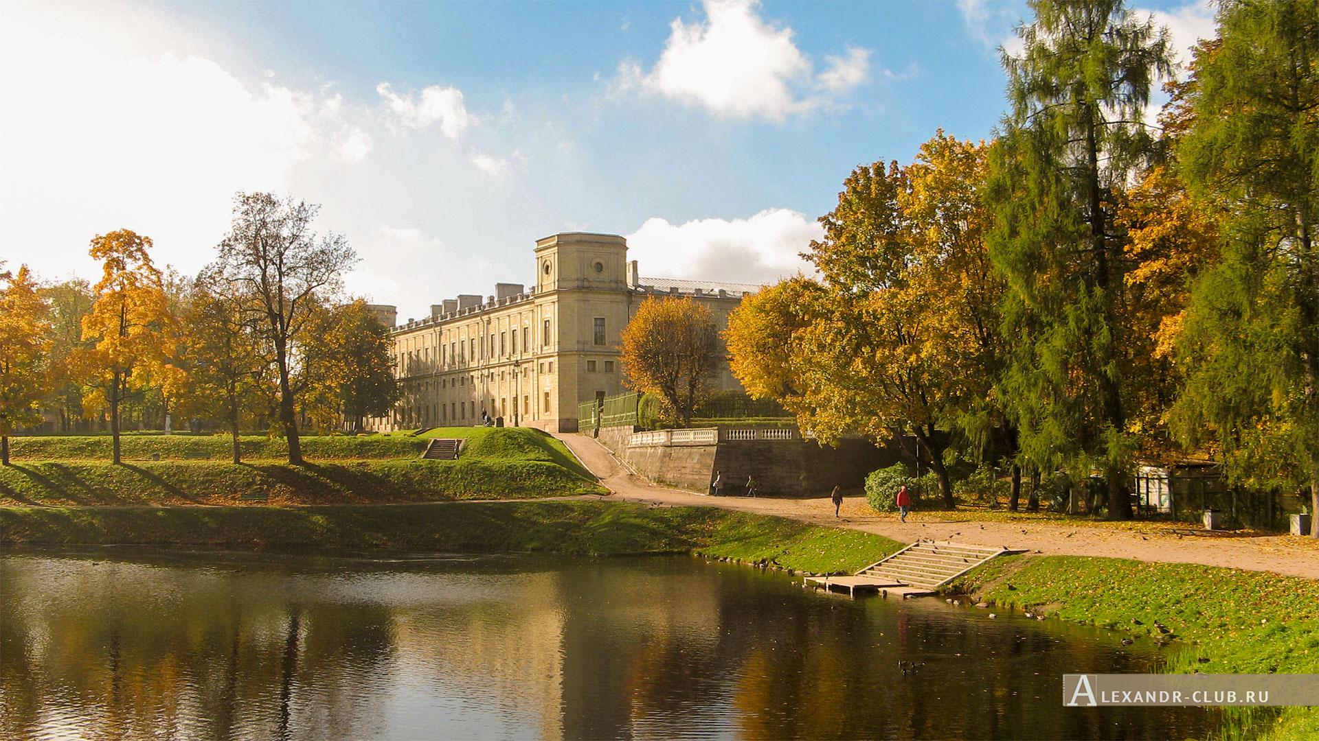 Гатчина, Гатчинский дворец, осень, терраса Собственного садика