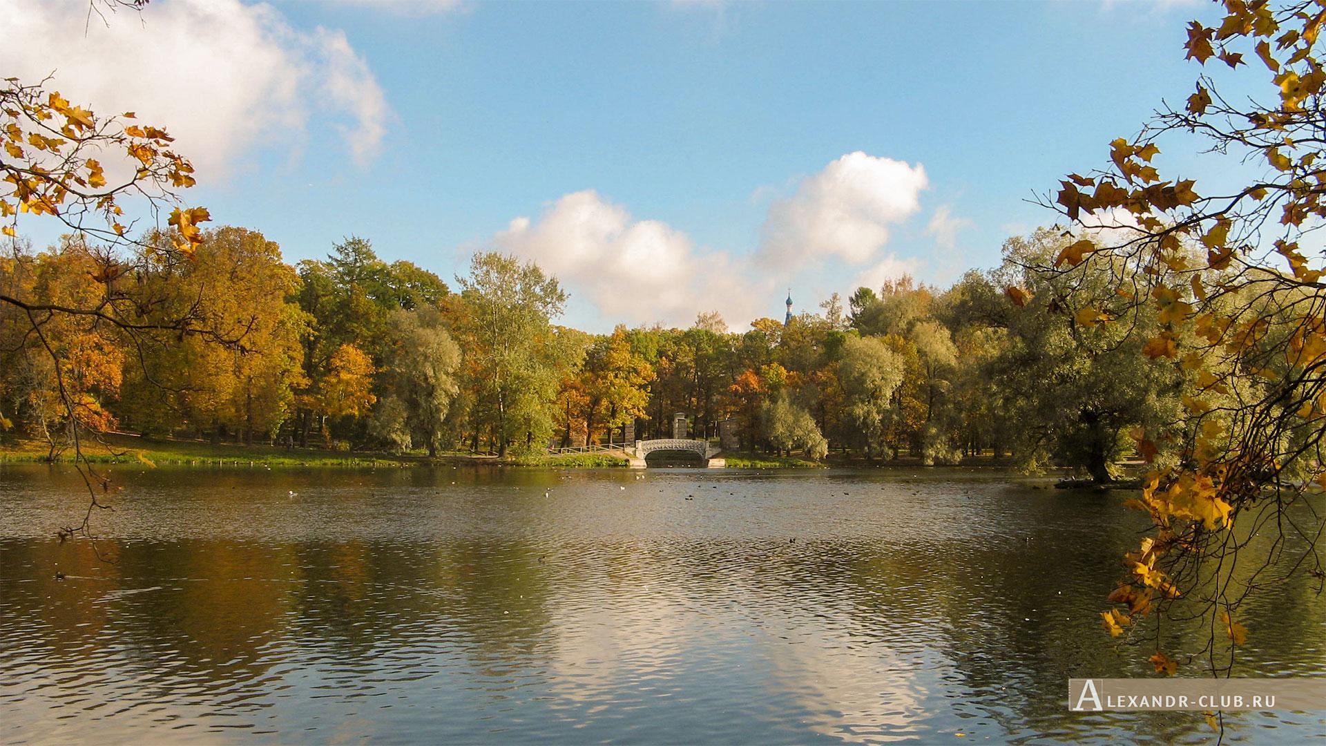 Гатчина, Гатчинский парк, осень, Белое озеро
