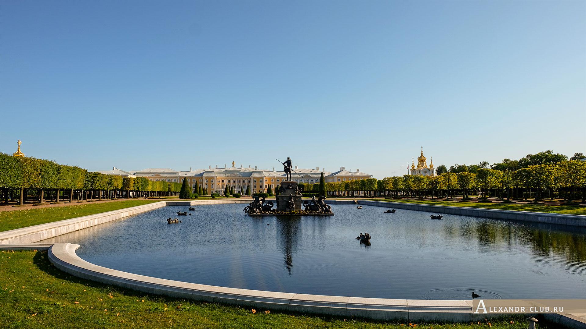 Петергоф, лето, Верхний сад