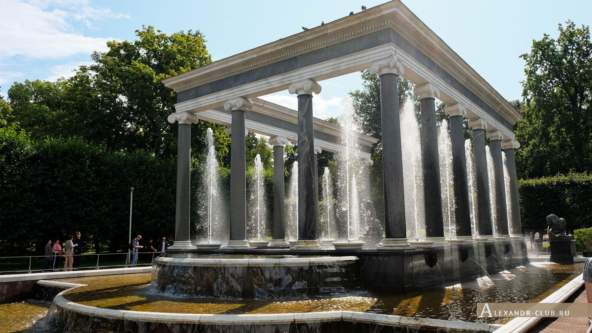 Петергоф, лето, Нижний парк, фонтан «Львиный каскад»