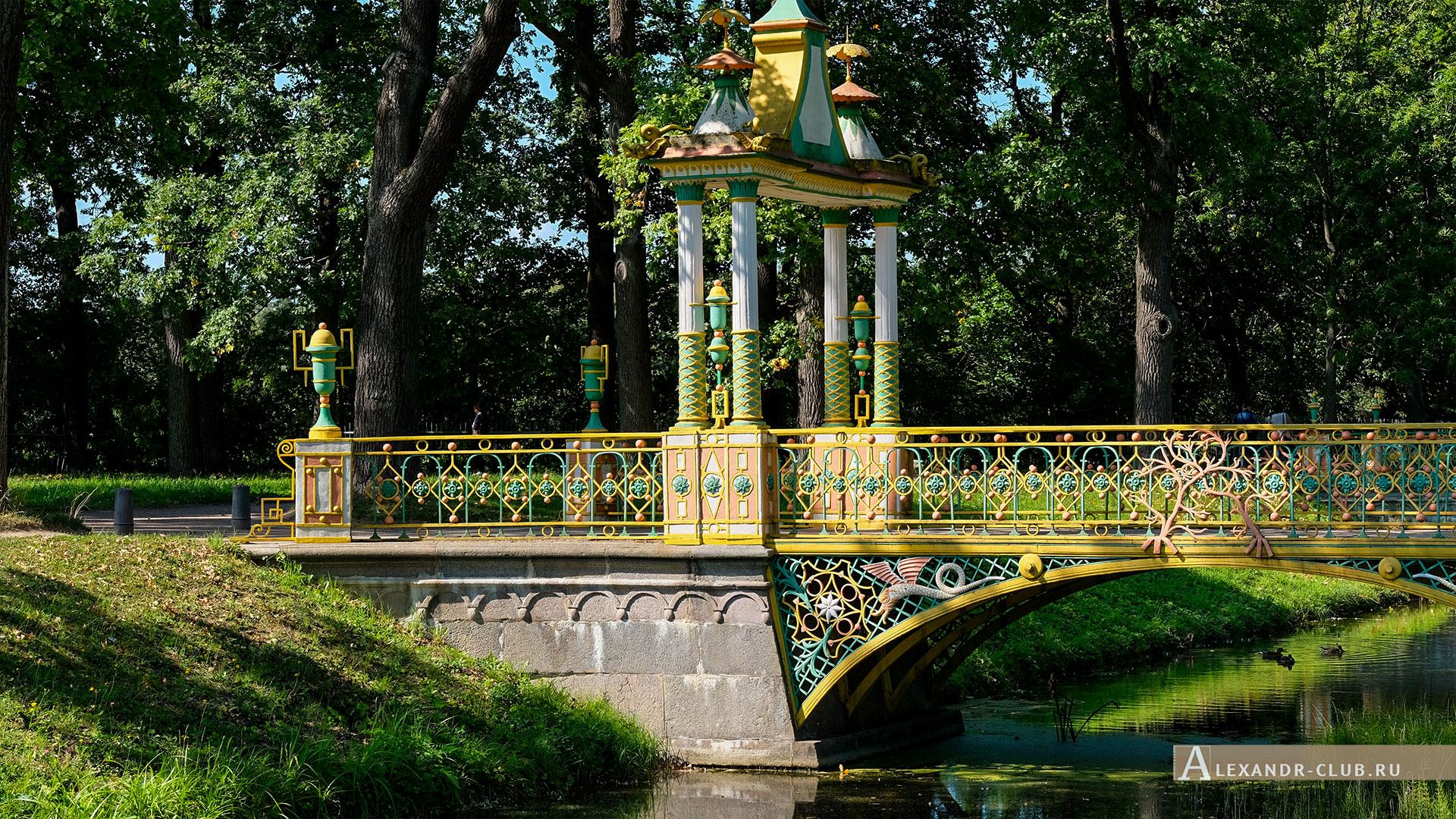 Царское Село, лето, Александровский парк, Китайский мостик