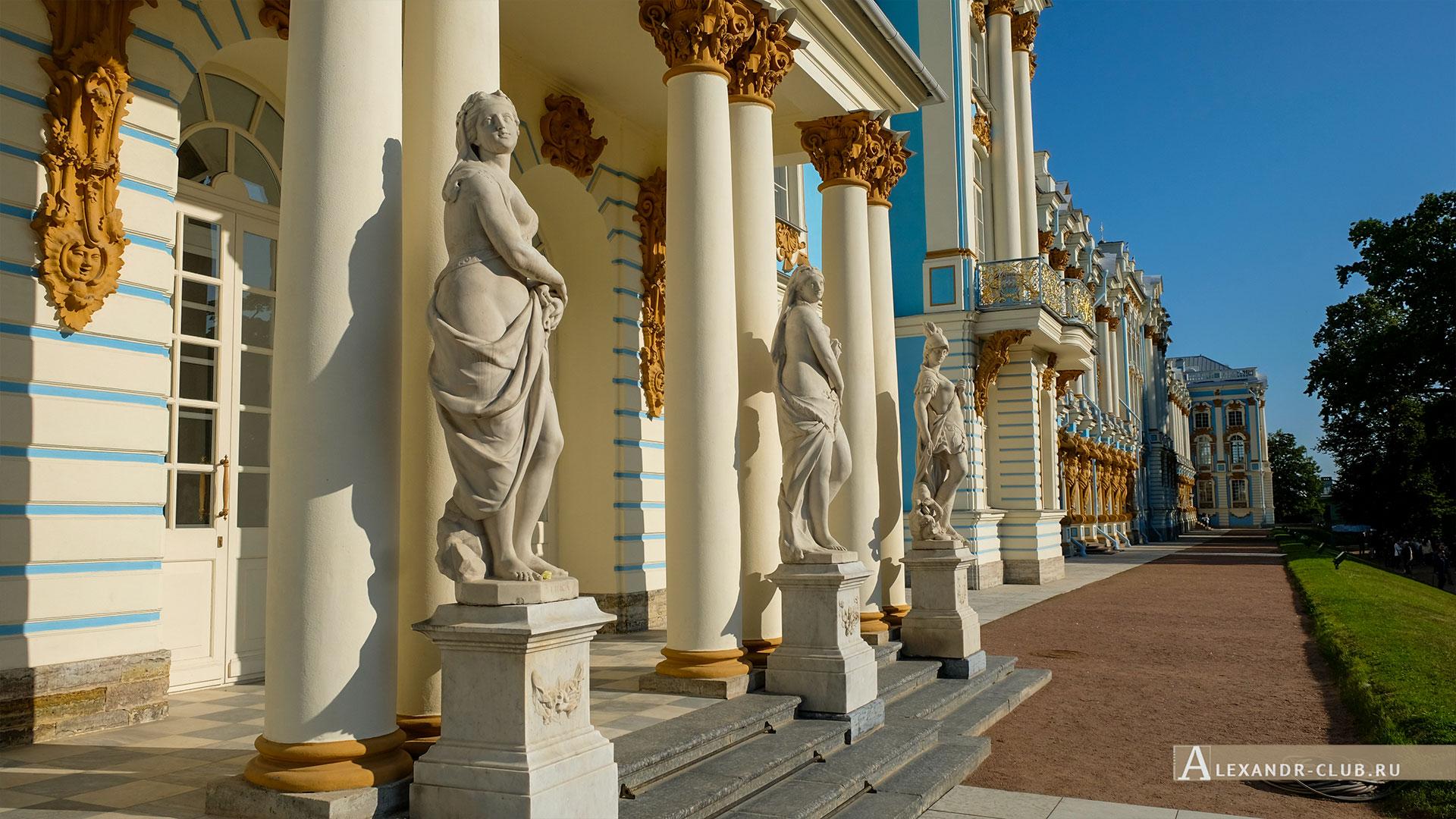 Царское Село, лето, Екатерининский парк, Екатерининский дворец