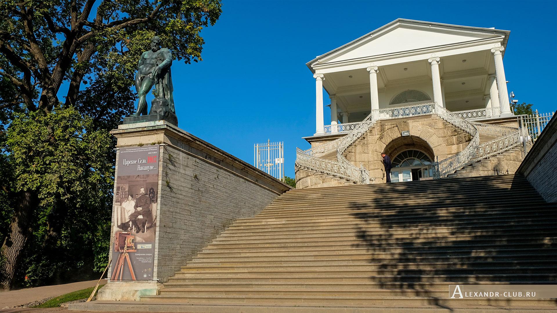 Царское Село, лето, Екатерининский парк, Камеронова галерея, статуя Геркулес Фарнезский