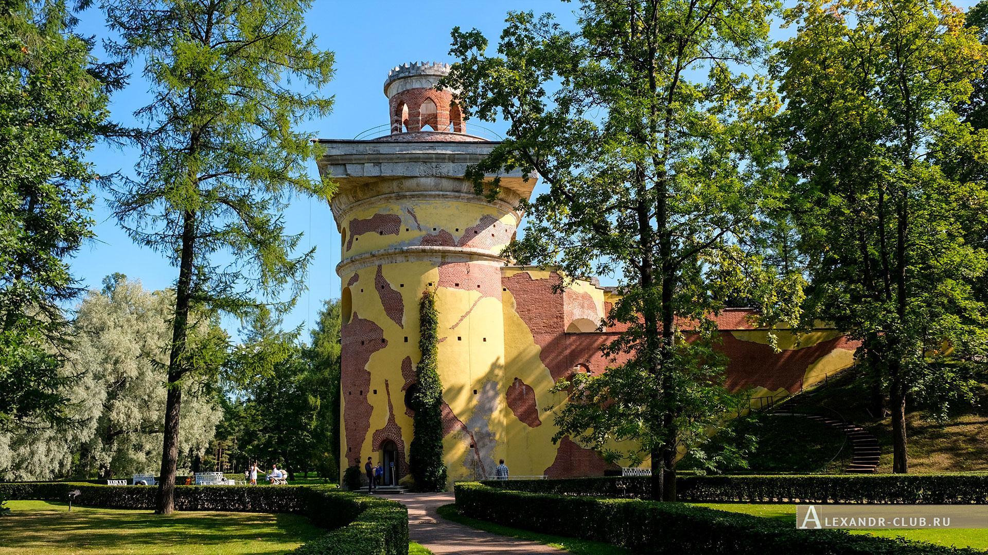 Царское Село, лето, Екатерининский парк, Башня-руина