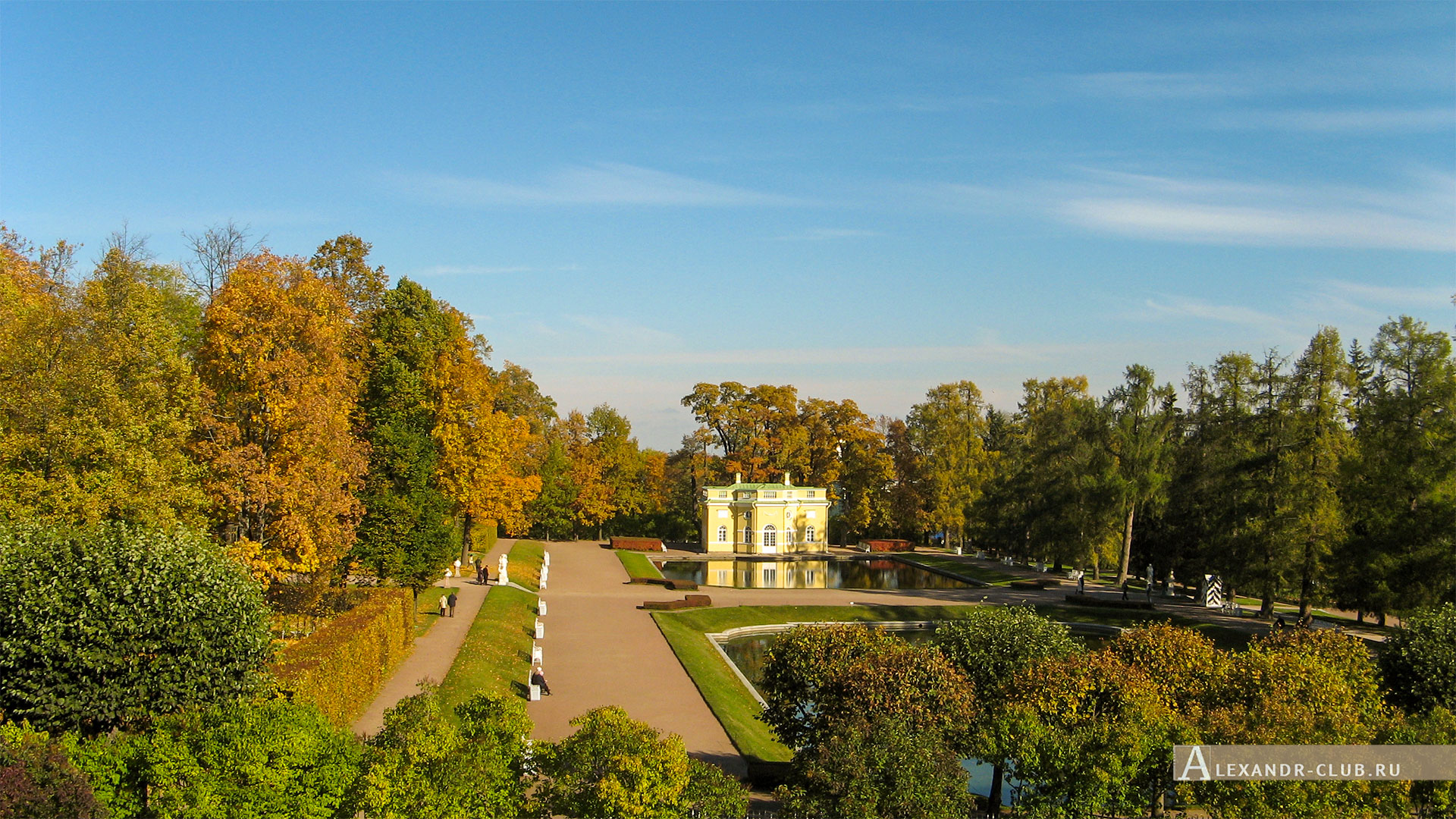 Царское Село, осень, Екатерининский парк, павильон «Верхняя ванна»