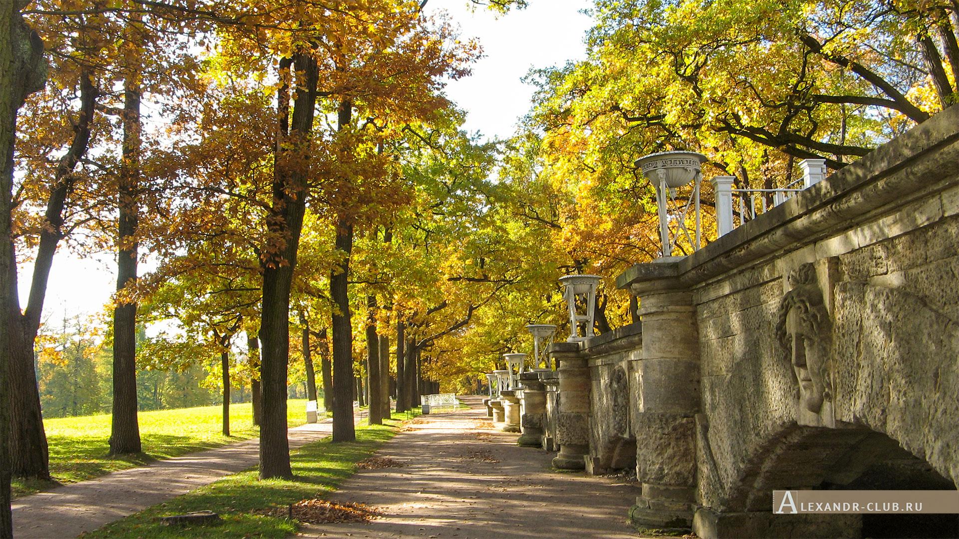 Царское Село, осень, Екатерининский парк, пандус Камероновой галереи