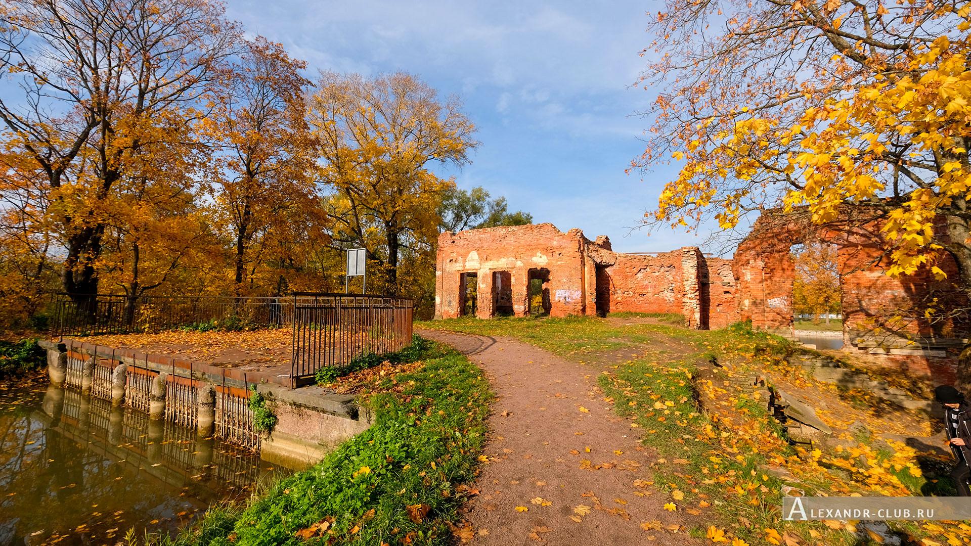 Петергоф, Луговой парк, осень, Розовый павильон