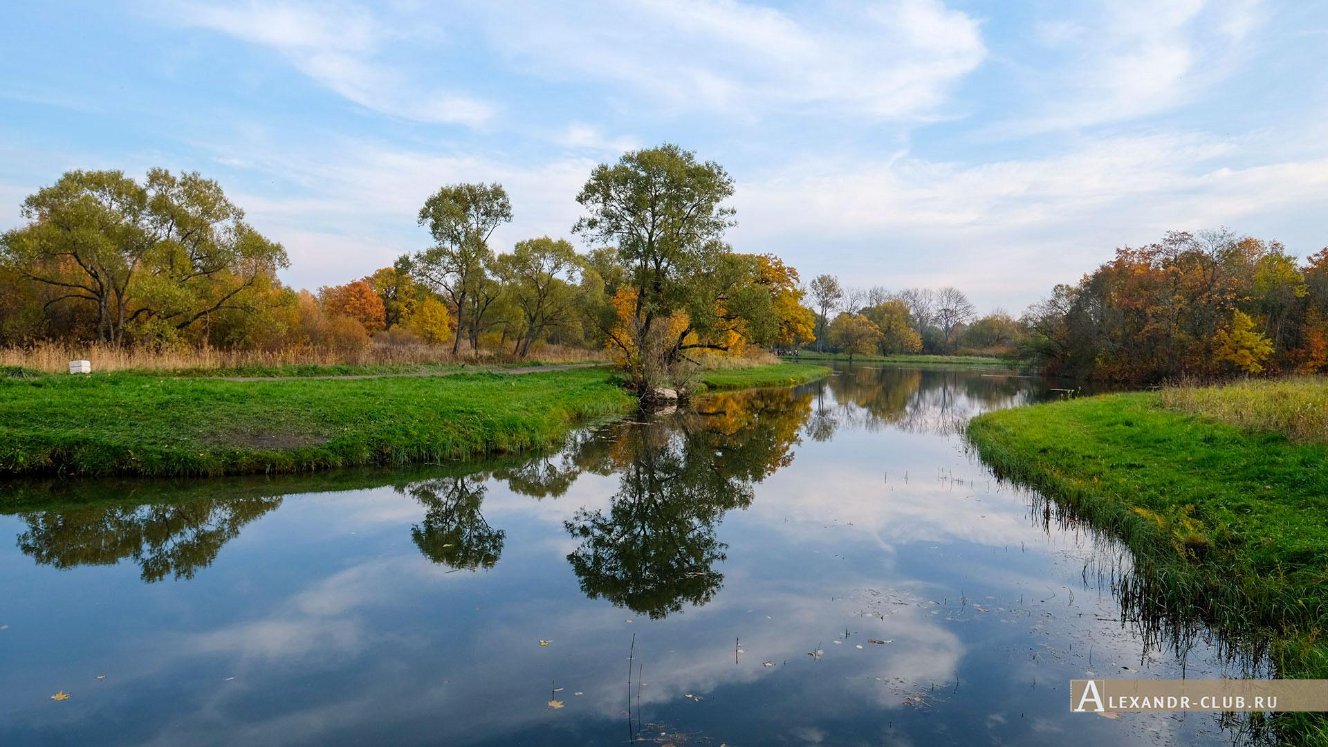 Петергоф, Луговой парк, осень, Орлинский пруд