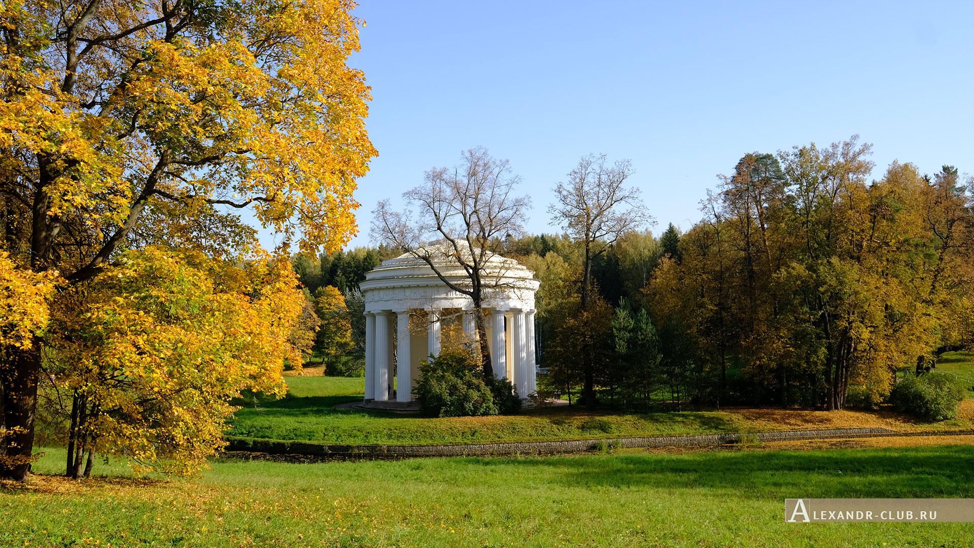Павловск, осень, Павловский парк, Храм Дружбы