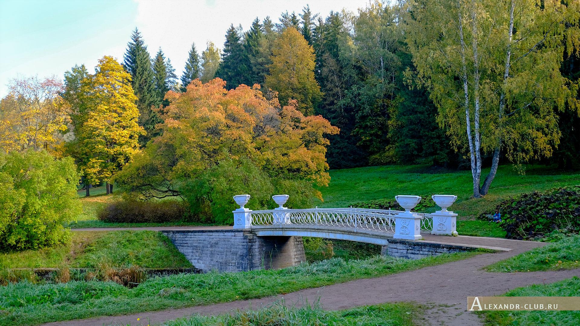 Павловск, осень, Павловский парк, Чугунный мост