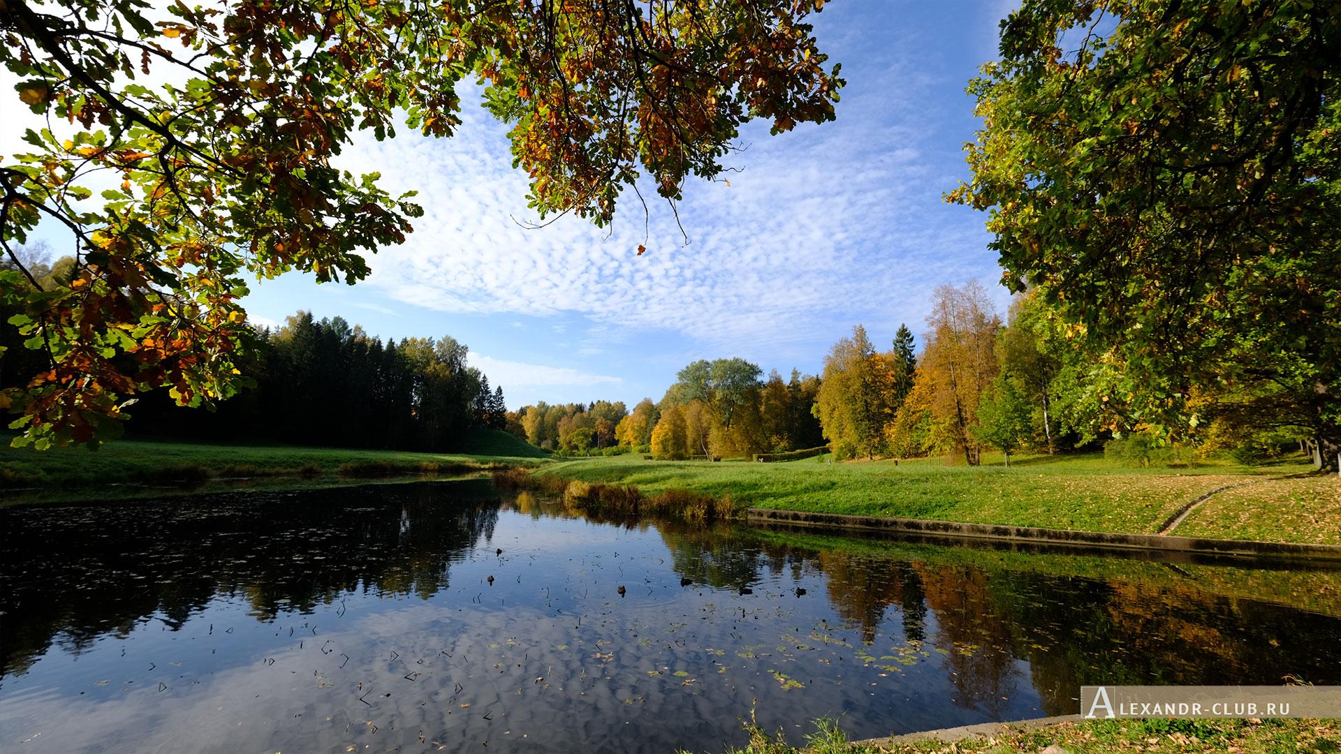 Павловск, осень, Павловский парк, река Славянка