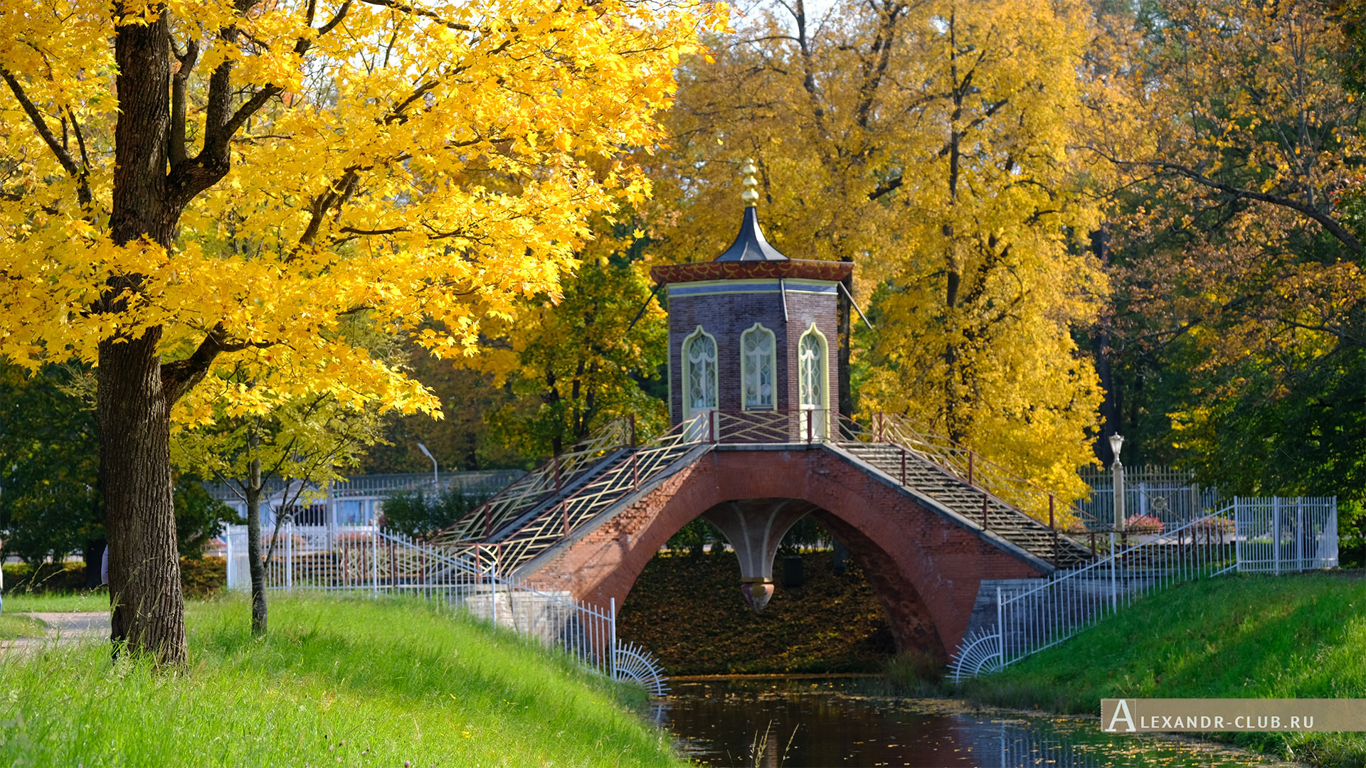Пушкин, Царское Село, осень, Александровский парк, Крестовый мост