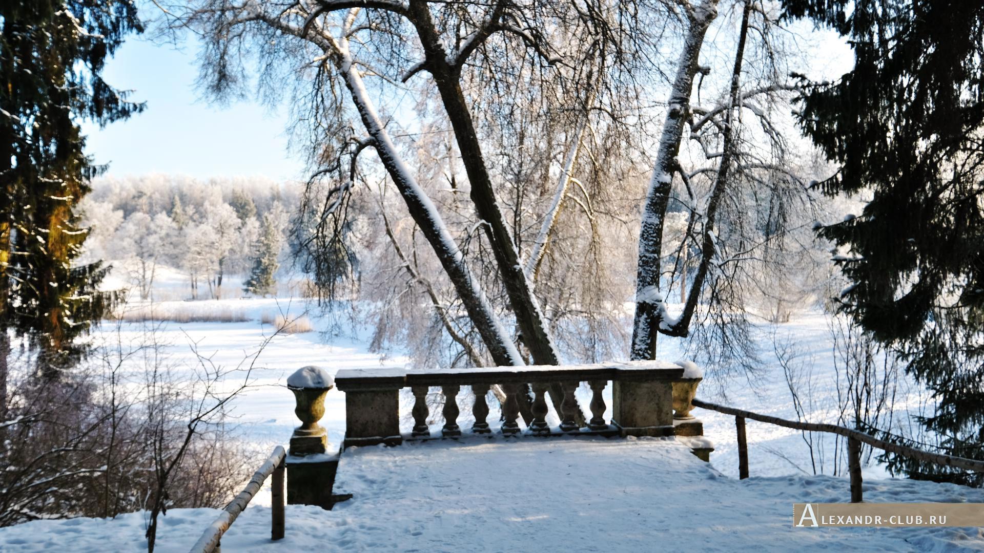 Павловск, зима, Павловский парк, Руинный Каскад