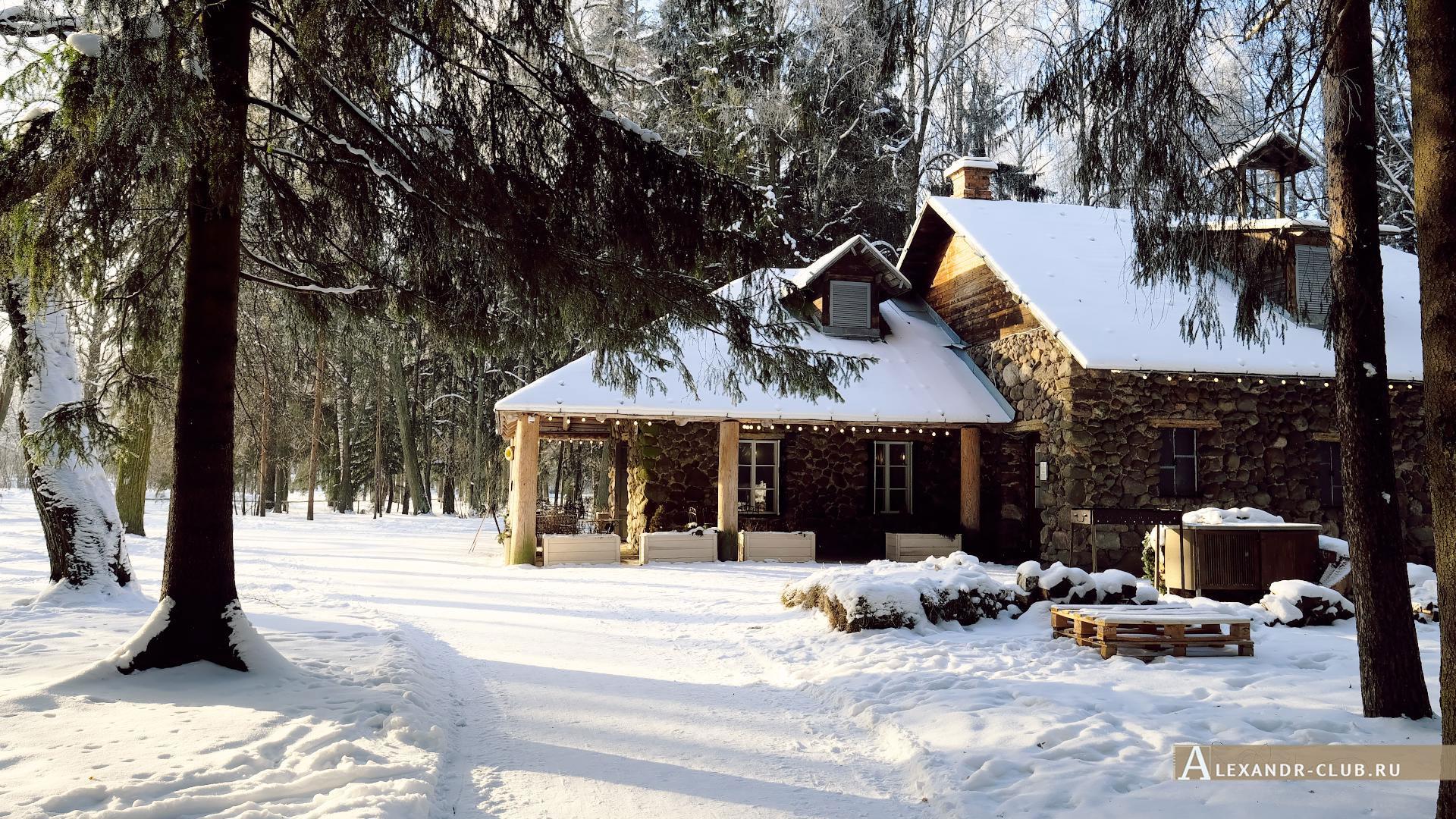 Павловск, зима, Павловский парк, павильон Молочня