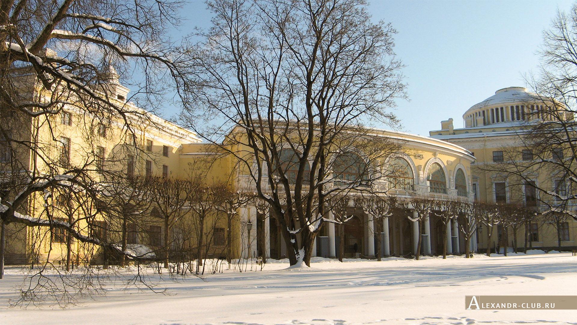 Павловск, зима, Павловский дворец, Галерея Гонзаго