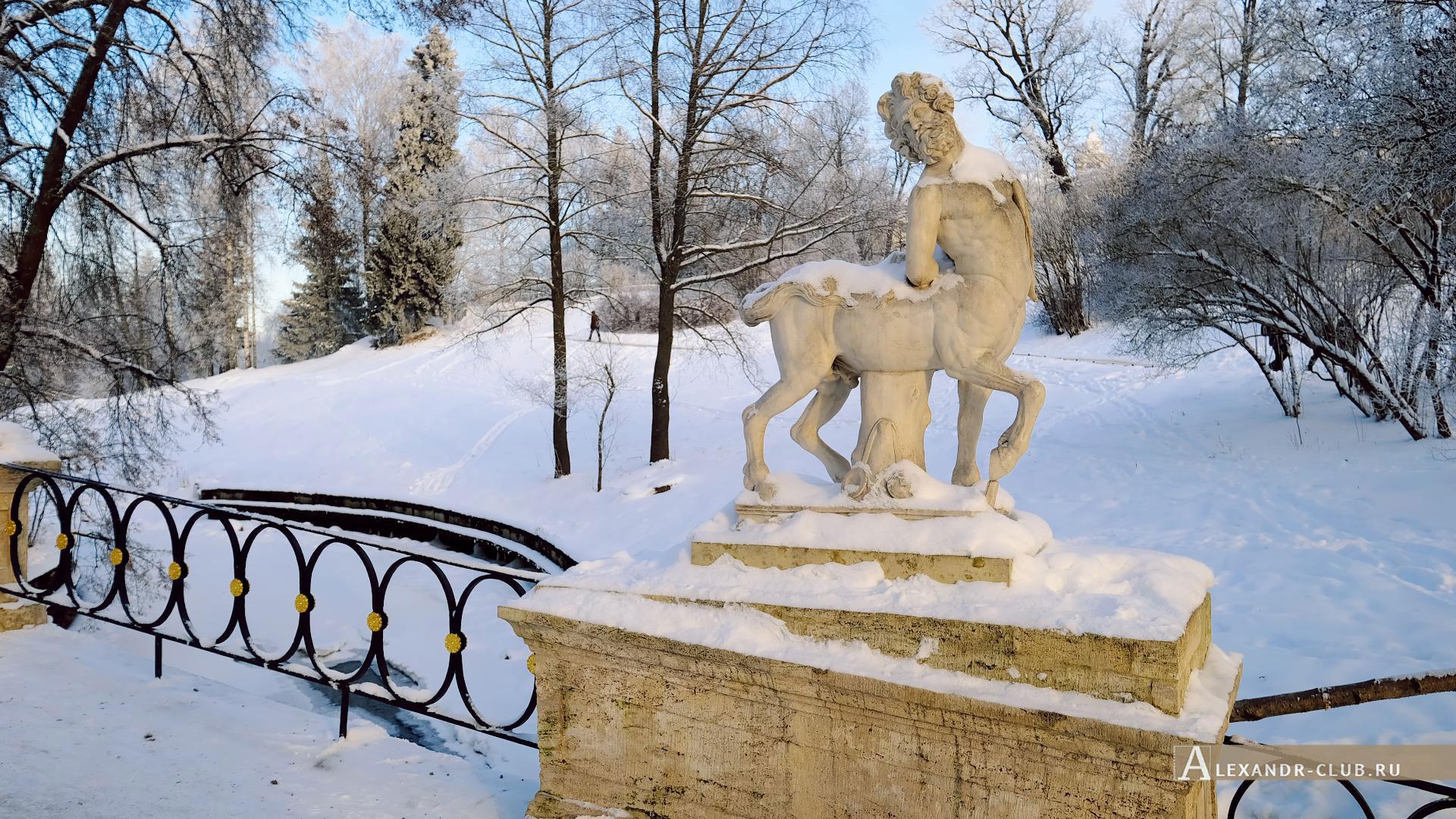Павловск, зима, Павловский парк, мост Кентавров