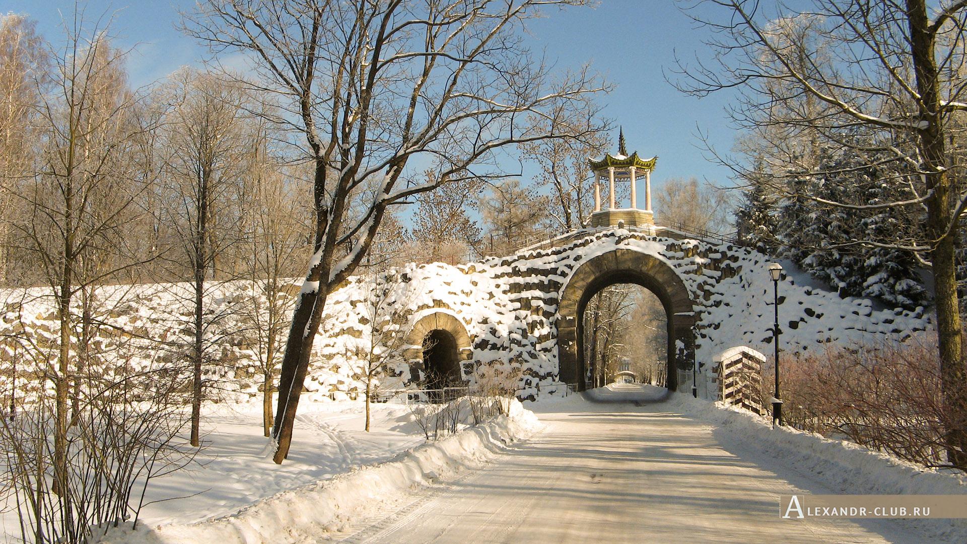 Пушкин, Царское Село, зима, Александровский парк, Большой каприз